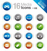Glossy Buttons - Media Icons poster