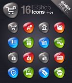 Glossy Pebbles - Shopping icons