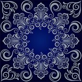 Mandala blue background. Illustration vector.
