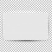 White Blank Credit Or Gift Card Model Template Top View With Shadow Isolated On Transparent Backgrou poster