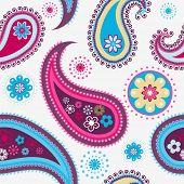 Seamless colorful background from a paisley ornament
