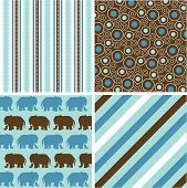 seamless patterns with fabric texture, baby boy patterns