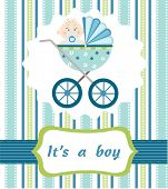 stock photo of happy baby boy  - baby boy arrival - JPG