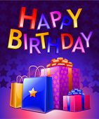 Birthday Background Dark (vector)