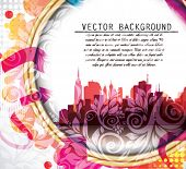 Vector Illustration of City in the Abstract Frame.