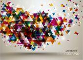 Постер, плакат: Абстрактный фон с узором треугольник