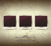 Elegant Vintage empty Photo frame Background. Vector Illustration. EPS10.