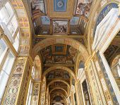 ceiling in art gallery. raphael. winter palace. russia