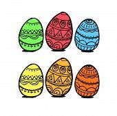 Set of eggs