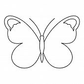 Nice Butterfly Icon. Outline Illustration Of Nice Butterfly Icon For Web poster