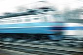 stock photo of high-speed  - Train on the way - JPG
