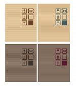Cardbox vector textures. dark and bright