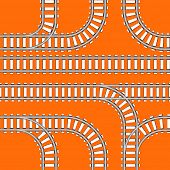 Seamless background of railway tracks