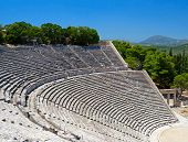 image of epidavros  - Theater in Epidaurus in Greece - JPG