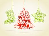 Christmas toys. Greeting card