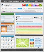 Web design elements set. 2.0. Part 2. Vector illustration