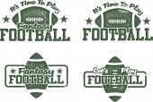 American Football and Fantasy Football Stamps
