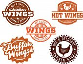 Vintage Style Chicken Wing Graphics