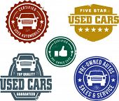 Vintage Used Car Stamp Designs