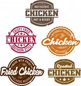 Classic Style Chicken Stamps