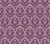 Seamless floral vintage damask background