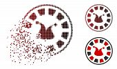 Joker Roulette Icon In Sparkle, Pixelated Halftone And Undamaged Entire Variants. Elements Are Compo poster