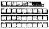 Conjunto de tiras de película de Grunge