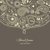 Hand drawn paisley border