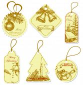 Vintage Christmas price tags