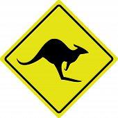 Australian Kangaroo Roadsign