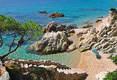 Beach Scene,Costa Brava,Spain