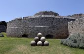Canon Balls, In Rhodes Old Town Moat.