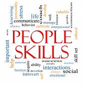 People Skills Word Cloud Concept