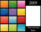 Calendário colorido 2009