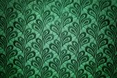stock photo of gobelin  - Pattern of Green vintage fabric plant texture - JPG