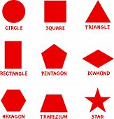 Basic Geometric Shapes With Captions