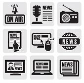 newspaper media icons