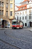 Street Railway In Prague