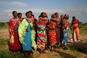 Group of Samburu Ladies, dancing in Kenya, Africa