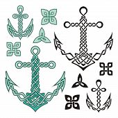 pic of triquetra  - Anchor illustrations inspired from Celtic knot designs - JPG
