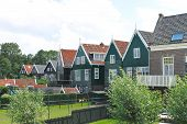 Houses On The Island Of Marken. Netherlands