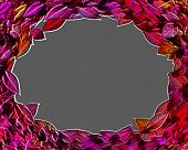 3D Framed Autumn Leaves Circlet