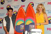 LOS ANGELES - JUL 22:  Michael Trevino, Candice Accola in the Press Room of the 2012 Teen Choice Awards at Gibson Ampitheatre on July 22, 2012 in Los Angeles, CA