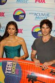 LOS ANGELES - JUL 22:  Nina Dobrev, Ian Somerhalder in the Press Room of the 2012 Teen Choice Awards at Gibson Ampitheatre on July 22, 2012 in Los Angeles, CA