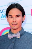 LOS ANGELES - JUL 22:  Tyler Blackburn arriving at the 2012 Teen Choice Awards at Gibson Ampitheatre