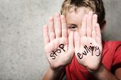 stock photo of schoolboys  - Stop Bullying - JPG