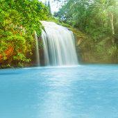 Beautiful Prenn waterfall in Vietnam