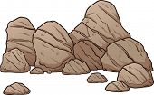 A pile of boulders,rocks and pebbles. Vector illustration with simple gradients. All in a single lay