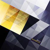 abstrakt Dreiecke Hintergrund. blaue und gelbe Farbumfang. Vektor, eps10
