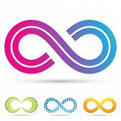 picture of mobius  - Vector illustration of infinity symbols in retro style - JPG